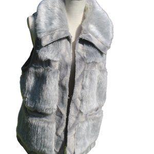  RLZ  Faux Fur Vest Size Large